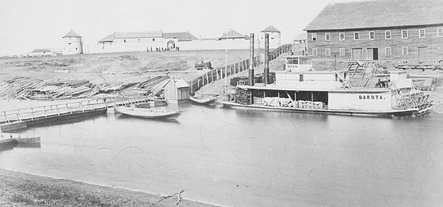 A011337 - Upper Fort Garry in the early 1870s. William J. Topley, 1872